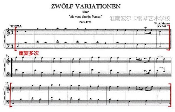 一闪一闪亮晶晶简谱钢琴谱-学钢琴不得不知的三首莫扎特作品