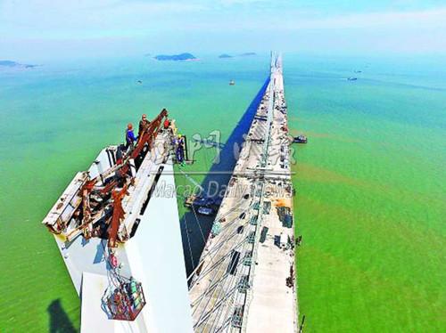 媒体 港珠澳大桥料8月全桥合龙 明年夏季通车