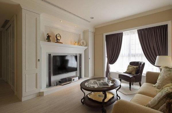 100平2房2厅温馨美式小屋,狭长的房型被完美优化