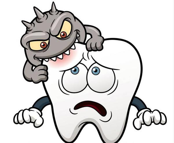 完整牙齿卡通图