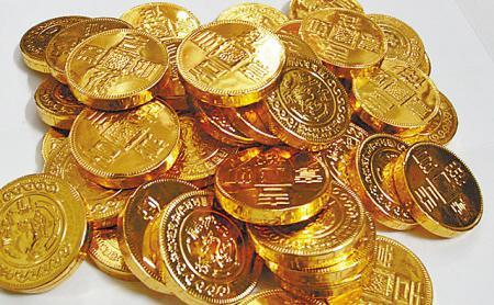 金币巧克力现在的巧克力花头十足看得是眼花缭乱.