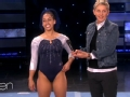 《艾伦秀第13季片花》S13E104 体操队员比赛跳耐耐爆红 因骨折弃奥运