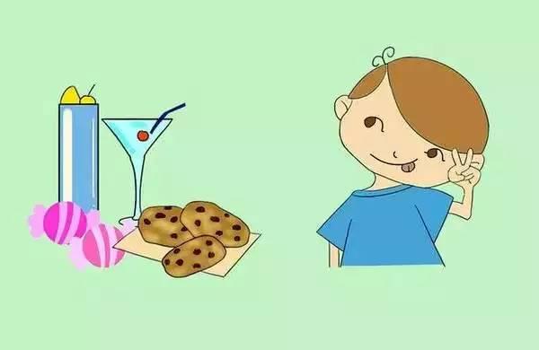 幼儿卡通零食简笔画