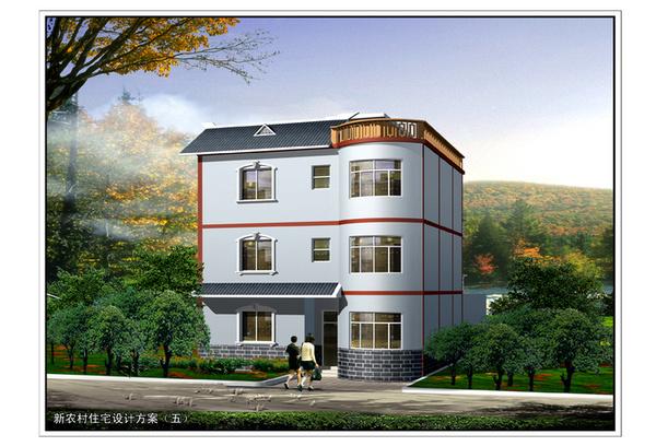 新农村住宅设计图新农村自建房别墅设计cad图纸
