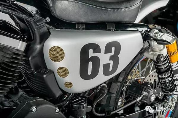 摩托家\/复古改装Martini特别版哈雷XL883R
