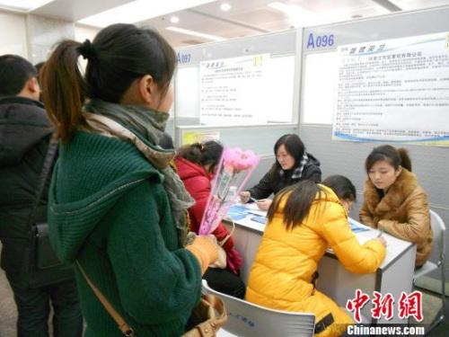 资料图:就业难、劳动权益维护难一直困扰着职场女性 中新社发 刘文华 摄