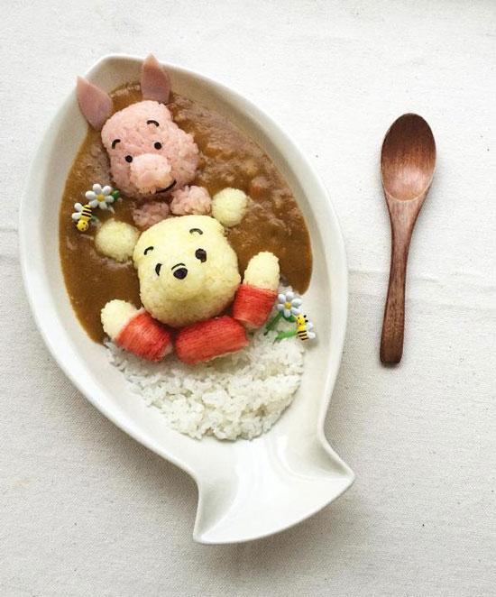小熊维尼咖喱饭