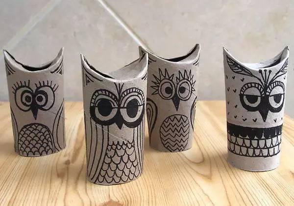 凶猛的温顺的,可爱的搞笑的,卫生纸卷筒能做出来的小动物数量一定超乎