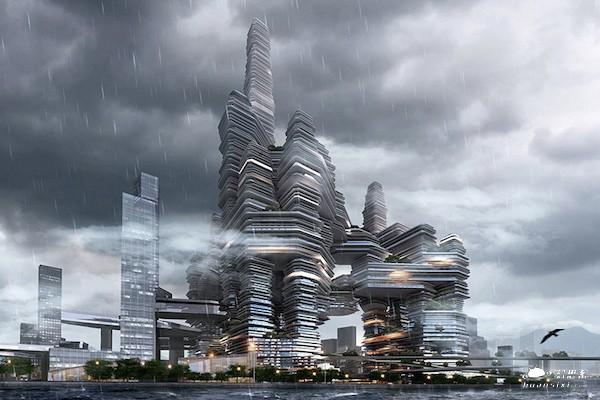 超具科幻感的未来大型城市