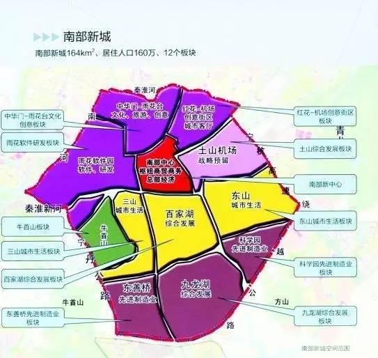 南部新城规划图