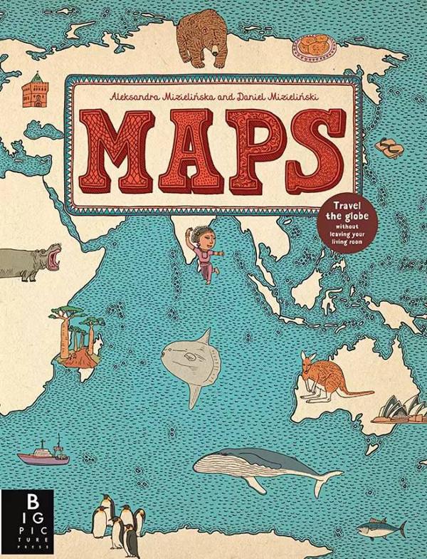 幅地图手绘图,作为给小朋友的第一本地图册非常合适