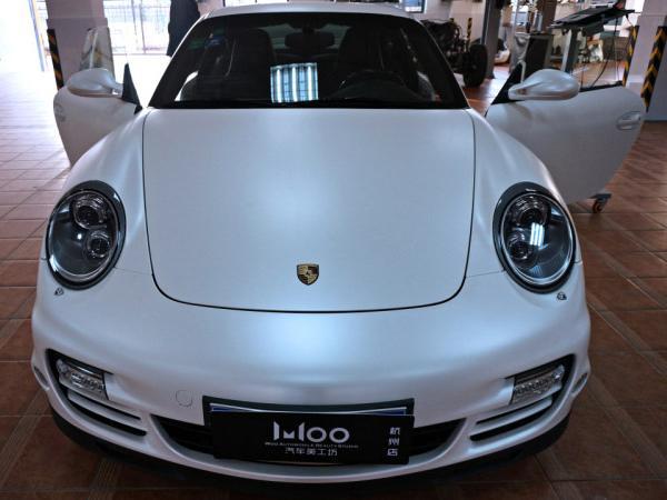 保时捷911 turbo s车身贴膜改色电光白,最美白色!