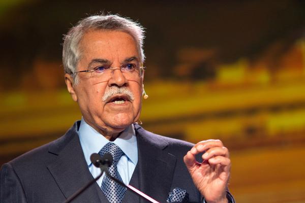 当地时间2016年2月23日,沙特石油部长纳伊米(Ali al-Naimi)在IHS CERAWeek能源会议上发表讲话。 视觉中国 图