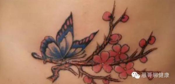 不过,如果文艺的女生,纹身图案估计就报废了.
