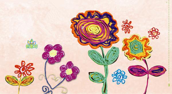 》中级下的纸绳贴画活动:《春天花儿开》   手工环创   我们不仅可以