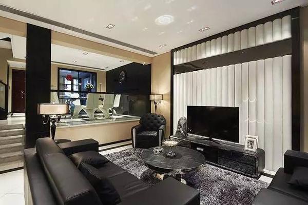 别墅住宅装修设计_180平米复式现代简约风格图片