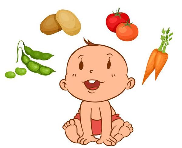孩子吃饭卡通-宝宝不喜欢吃蔬菜,妈妈怎么办图片