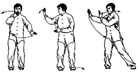 仓井空闻�_这里以洪传陈式太极拳为例,说明云手的运行轨迹.