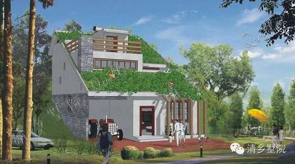 用百叶通风,种植坡屋面