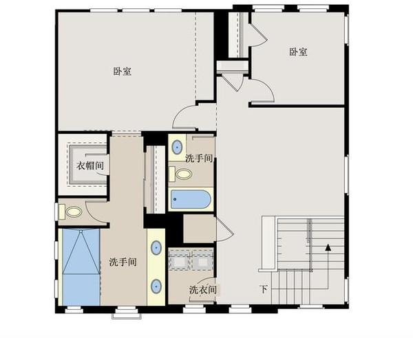 新农村自建房别墅10米x10米 带双车库含平面图纸新农村自建房10米x10图片