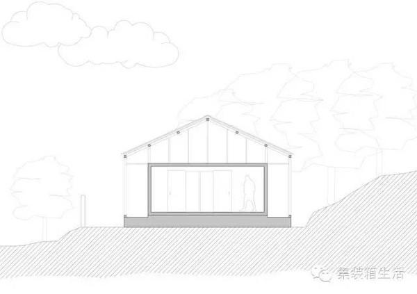 建筑手绘线稿 天空