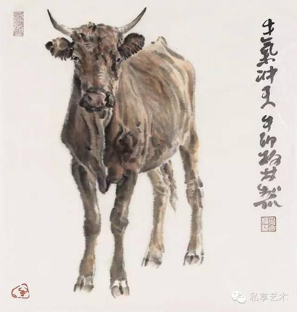出版有(牛的画法),(郑柏林画牛),(郑柏林作品选),郑柏林画集)等画册图片