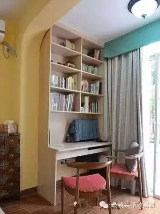 阳台改书房:小户型扩容必看装修效果图图片