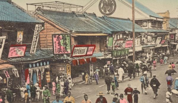 从手绘上色的明信片回顾 100 年前左右的日本风貌