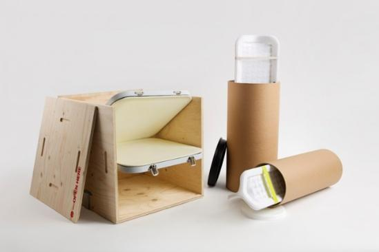 mireia gordi i vila带来的这一项目包括了板条箱和容器筒两个作品