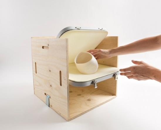 mireia gordi i vila带来的这一项目包括了板条箱和容器筒两个作品,设