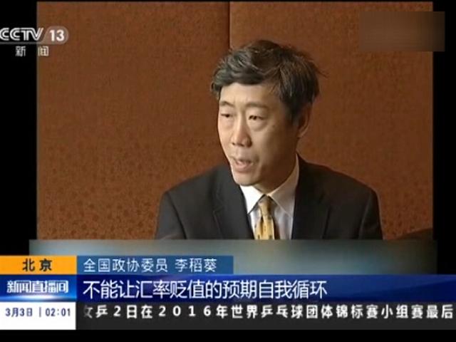 """李稻葵:""""十三五""""开局稳金融 让股民不慌"""