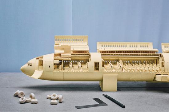 锻造五年制作的波音777最新章节(组图)精细模型第55章剑历时图纸天羽图片