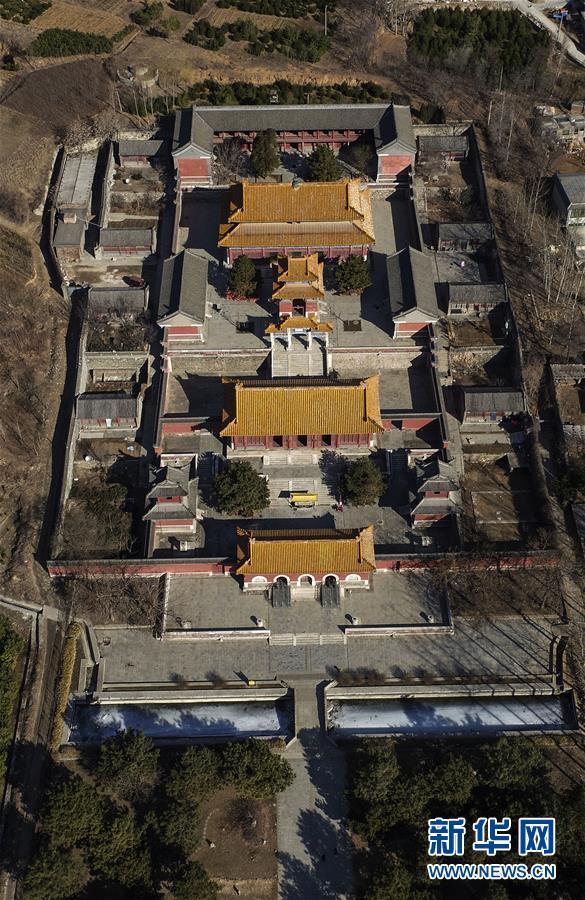 这是2月28日航拍的清西陵昌陵.