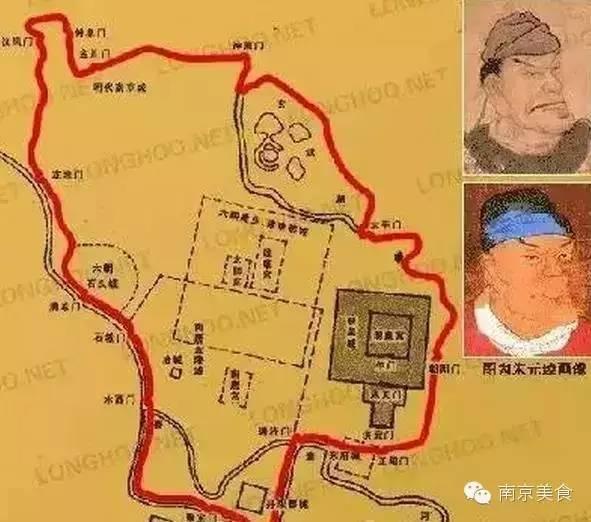 幼儿手绘南京美食地图