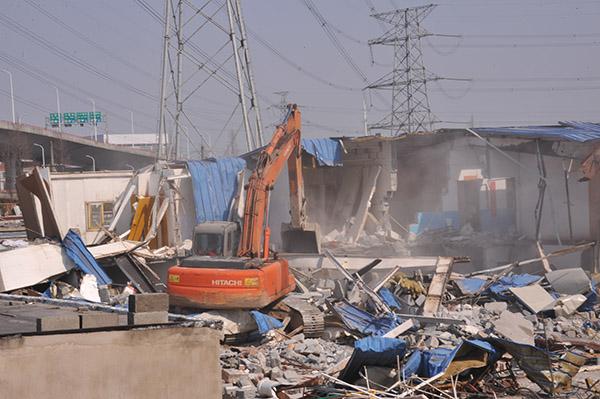 上海整治迪士尼周边区域:大规模拆违 无人机巡查