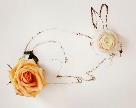 怎样用铅笔画简单花朵