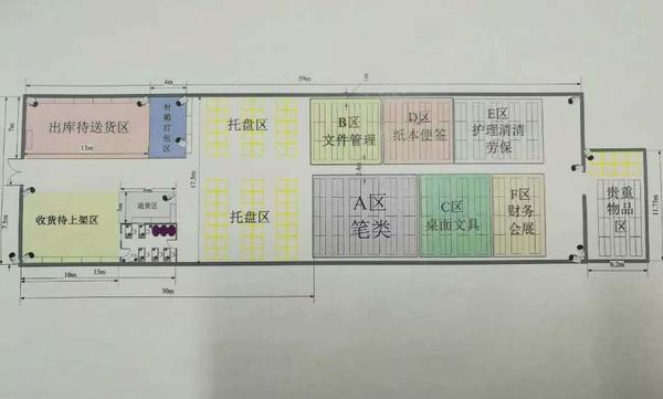 布局平面设计仓库图装修设计工程v布局单图片