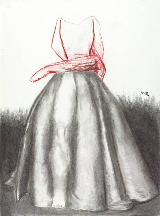 美术画画图片大全裙子
