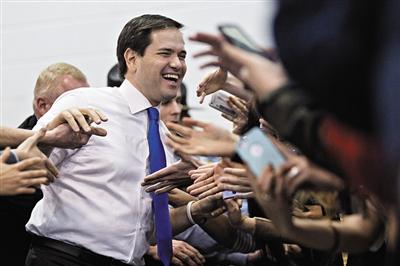 """佛罗里达州参议员马尔科・鲁比奥成共和党""""新宠""""。"""