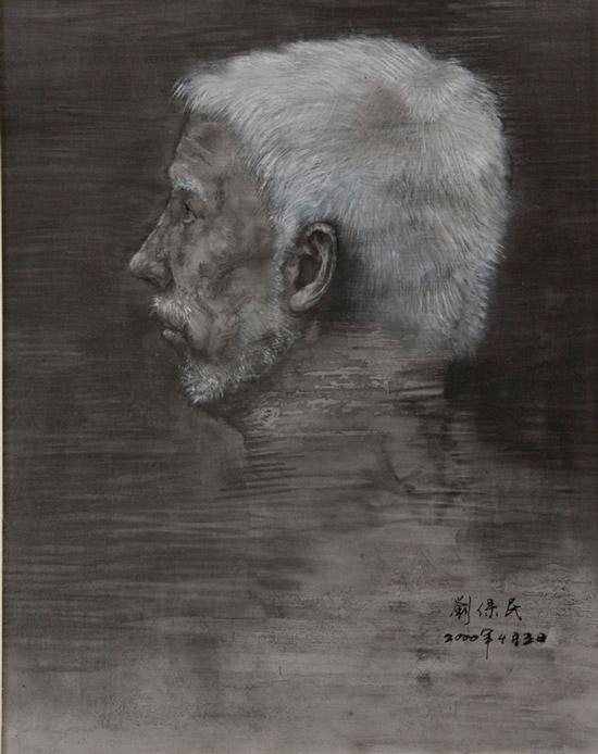 刘保民--老人肖像19x24cm2000年