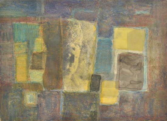 崔强-佛印系列-07-38x53cm-纸上综合材料-2003