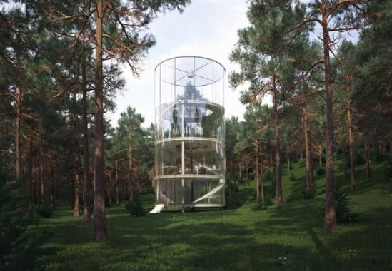 7 Amazing Houses Built Into Nature: 透明玻璃房子设计图片-透明玻璃游泳池设计-阳光玻璃房子图片-农村玻璃房子图片欣赏-中式玻璃房子图片大全