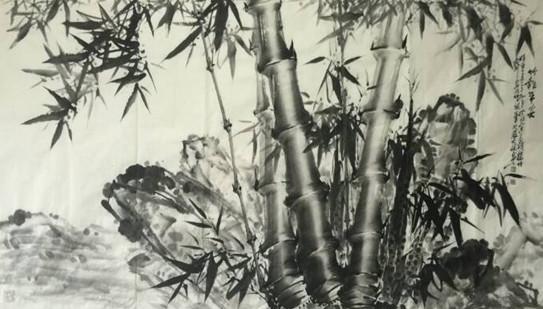 艺术 正文  近观张大林的竹子,明快秀气,苍劲古雅,凝练坚实,淋漓尽致.图片