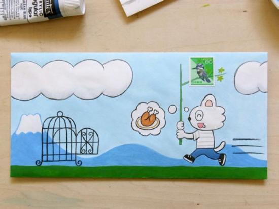 创意黑白插画手绘图片,邮票设计家手绘封,简单手绘日记插画图片,手绘