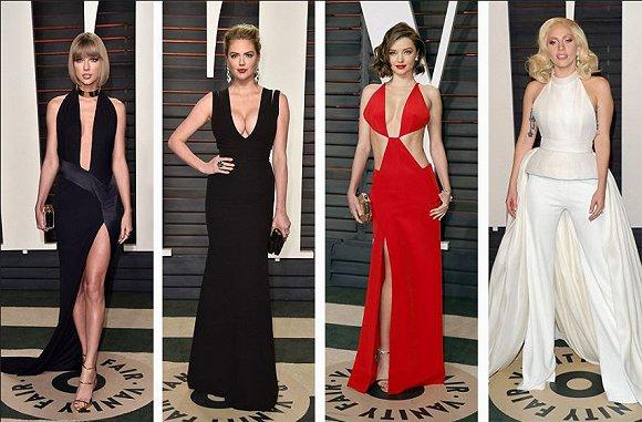 星光闪耀:(左起)泰勒・斯威夫特、凯特・阿普顿、米兰达・可儿和Lady Gaga打算和这些获奖者一起庆祝到深夜(图片来源:网络)