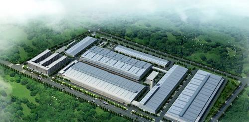 重庆比速汽车鸟瞰图效果图 合川工业园区供图