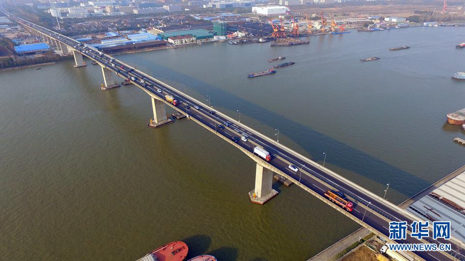 航拍奉浦大桥(2月27日摄).新华网梁鸿儒