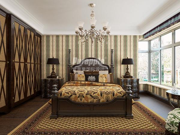 主卧房窗帘欧式