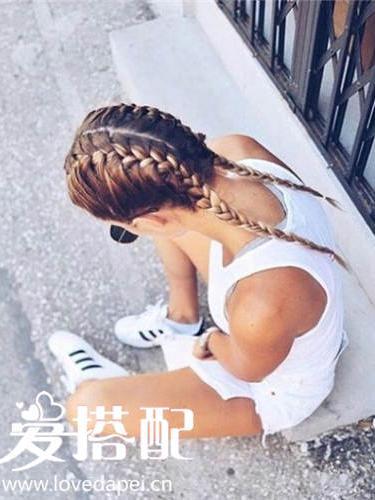 ins上最火的欧美潮人发型:boxer braids编发图解