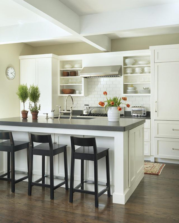 开放式厨房中岛吧台设计的方法图片